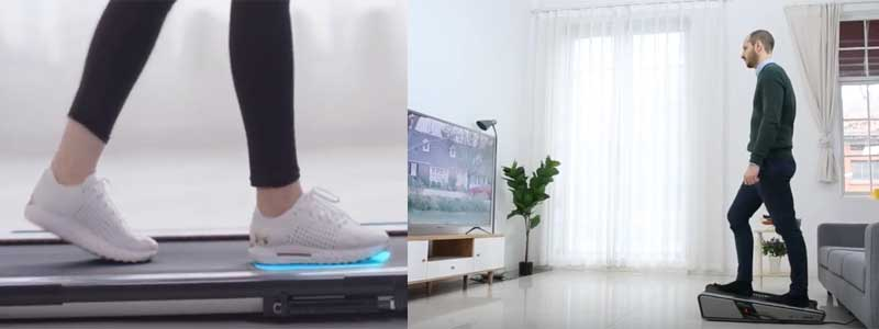 Huang Zhongxin Cinta de Correr Definici/ón Mudo Plegable Mini m/áquina de Caminar Ultra silenciosa