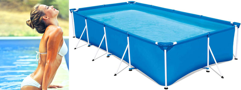 comprar piscina desmontable rectangular